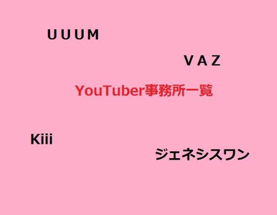 有名YouTuberの所属事務所一覧【随時更新】